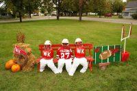 2010 W-K Football Topiary Display