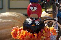2011 Angry Birds Pumpkin Topiary Display