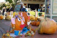 2011 Mr. & Mrs. Pumpkin Head Topiary Display