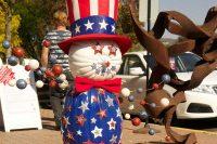 2012 Patriotic Pumpkin Topiary Display
