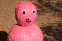 2012 Pig Pumpkin Topiary Display