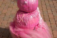 2013 Breast Cancer Awareness Pumpkin Display