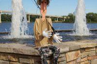 2013 Fisherman Topiary Display