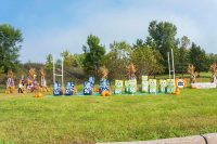 2017 Football Topiary Display