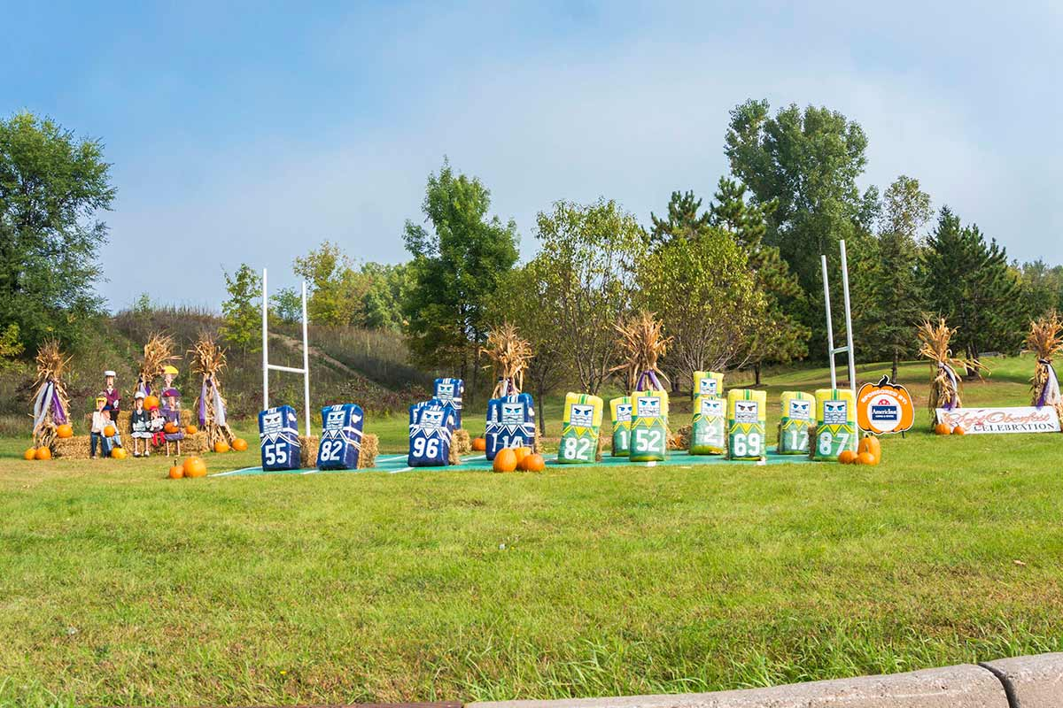 2017 Football Topiary Display