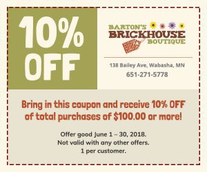 Barton's Brickhouse Boutique 10% OFF Sale