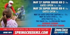 Super Series RD3 and RD4 @ Spring Creek MX Park   Millville   Minnesota   United States