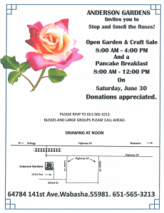 Anderson Gardens Open Garden & Craft Sale