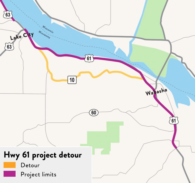 Hwy 61 Construction Updates in Wabasha and the Surrounding Area