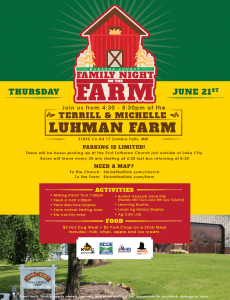 Wabasha County Family Night on the Farm @ Terril & Michelle Luhman Farm | Zumbro Falls | Minnesota | United States
