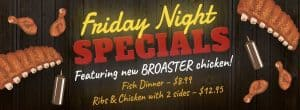 Friday Night Specials @ J & J BBQ and Catering | Nelson | Wisconsin | United States
