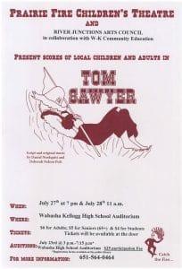 """Tom Sawyer"" – Prairie Fire Theatre @ Wabasha-Kellogg High School"